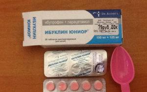 Таблетки Ибуклин юниор от температуры и боли: инструкция по применению для детей
